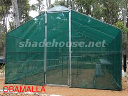 green shadehouse for protection against the extreme weather